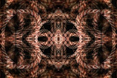 Digital Art - Rope Mantra 4 by Lynda Lehmann