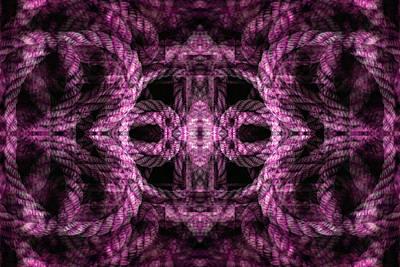 Digital Art - Rope Mantra 6 by Lynda Lehmann