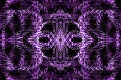 Digital Art - Rope Mantra 7 by Lynda Lehmann