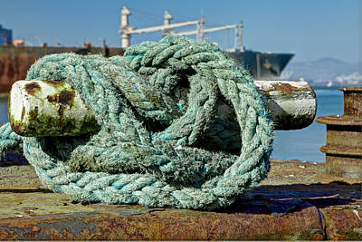 Photograph - Rope Moor At Pier 50 by SC Heffner