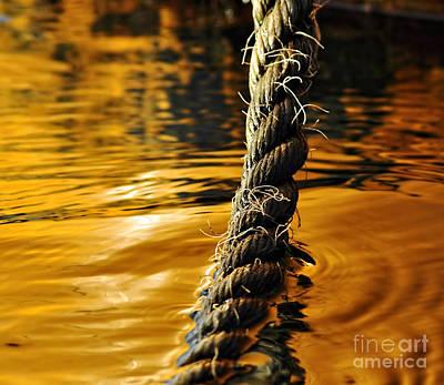 Rope On Liquid Gold Art Print
