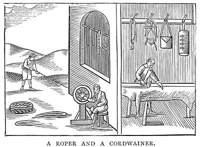 Shoemaker Painting - Roper & Cordwainer, 1659 by Granger