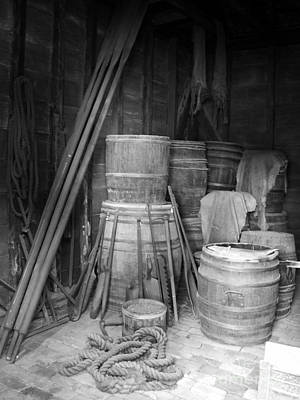 Photograph - Ropes And Barrels by Valerie Reeves