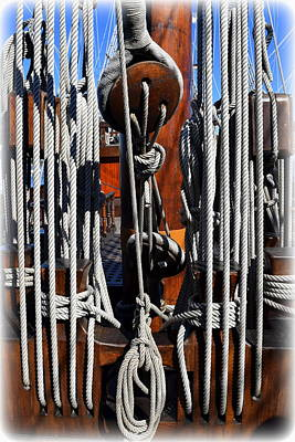 Photograph - Ropes Of El Galleon 1 by Sheri McLeroy