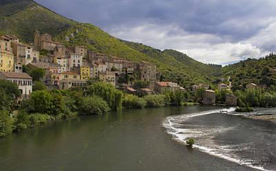 Roquebrun Photograph - Roquebrun Village by Karissa Leonard