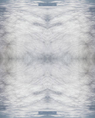 Symmetry Photograph - Rorschach Collage Of Many White Clouds by Silvia Otte