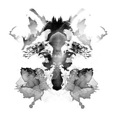 Ink Mixed Media - Rorschach by Robert Farkas