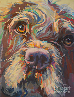Chocolate Lab Painting - Rory by Kimberly Santini
