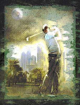 Painting - Rory Mcilroy In Dubai by Miki De Goodaboom