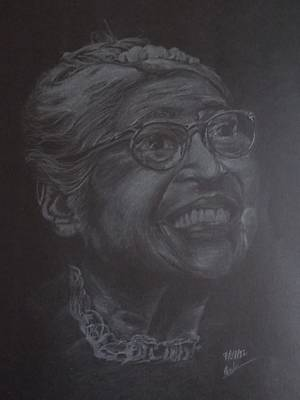 Freedom Fighter Drawing - Rosa Parks by Aaron Crooks