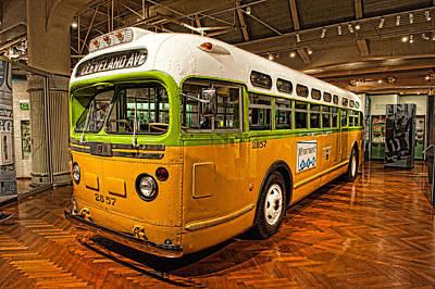 Rosa Parks Bus Art Print
