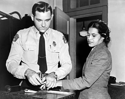 Racism Photograph - Rosa Parks Gets Fingerprinted by Underwood Archives