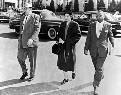 Discrimination Photograph - Rosa Parks Going To Jail by Underwood Archives