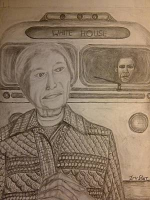 Barack Obama Drawing - Rosa Parks Imagined Progress by Irving Starr