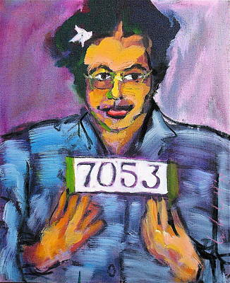 Painting - Rosa Parks by Les Leffingwell
