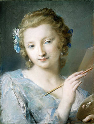 1757 Painting - Rosalba Carriera, Painting, Italian, 1675 - 1757 by Quint Lox