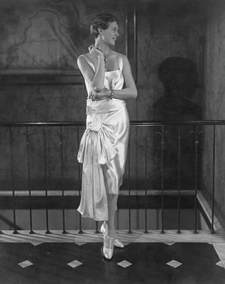 Rosalind Stair Wearing A Patou Dress Art Print