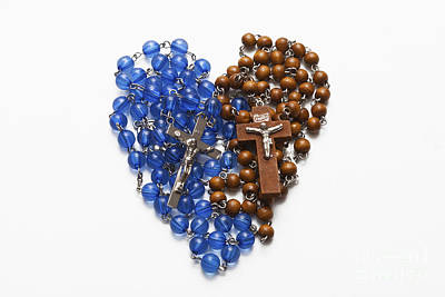 Photograph - Rosary Heart by Diane Macdonald