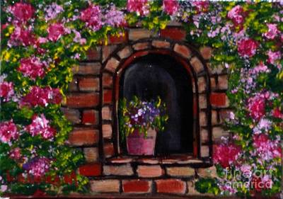 Target Threshold Nature - Rosy Alcove by Laurie Morgan