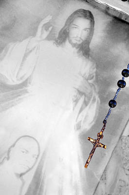 Rosary With Picture Of Jesus Las Cruces New Mexico 2010 Original by John Hanou