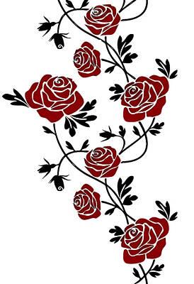 Vinil Digital Art - Rosas  by Galeria Zullian  Trompiz
