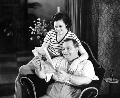 Roscoe Arbuckle & Addie Art Print by Underwood Archives