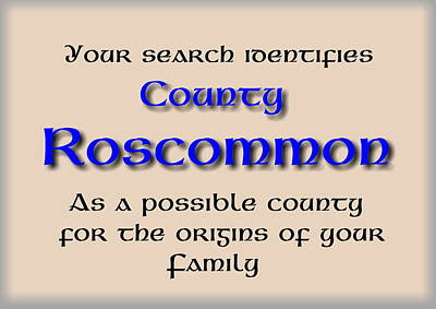 Mixed Media - Roscommon Ancestry by Val Byrne