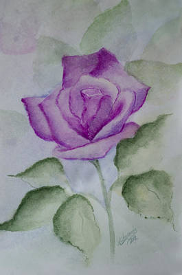Rose 3 Art Print by Nancy Edwards