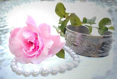 Photograph - Rose And Pearls by Barbara  White