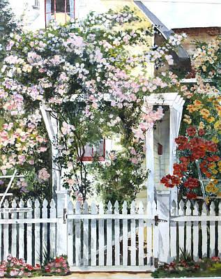 Rose Arbor Art Print