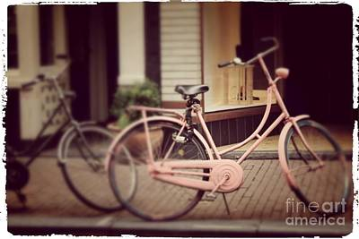 Rose Bike Art Print by Mary-Lee Sanders