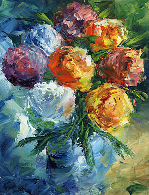 Rose Bouquet Art Print by Ash Hussein
