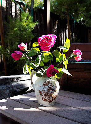 Floral Watercolor Photograph - Rose Bouquet by Irina Sztukowski