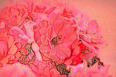 Digital Art - Rose Bouquet by Kathleen Stephens