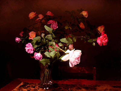 Still Life Royalty-Free and Rights-Managed Images - Rose Bouquet by Steve Karol