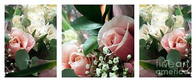 Photograph - Rose Bouquet Triptych by Renee Trenholm