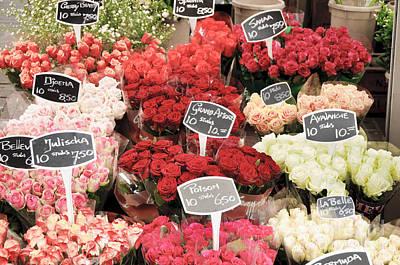 Flowers Photograph - Rose Bouquets For Sale by Oscar Gutierrez