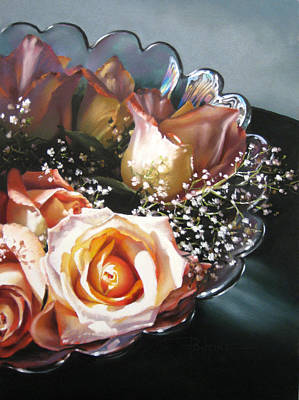 Rose Bowl Art Print by Dianna Ponting