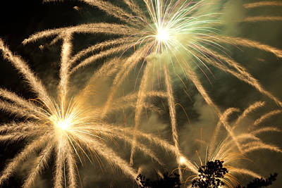 Photograph - Rose Bowl Fireworks by Rollie Robles