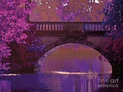 Maureen Digital Art - Rose Bridge At Evening by Maureen Tillman