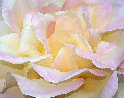 Outdoor Still Life Painting - Rose Bud by Michelle Rene Goodhew