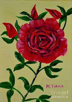 Painting - Rose Buds by Melvin Turner