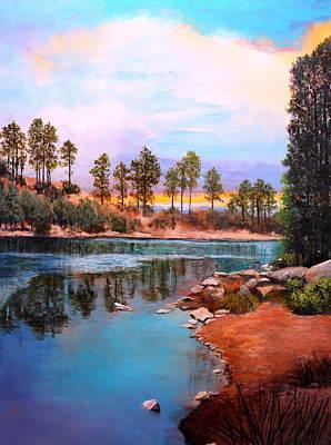 Rose Canyon Lake 2 Art Print by M Diane Bonaparte