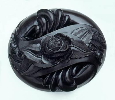 Rose Carved In Jet Art Print by Dorling Kindersley/uig