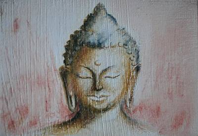 Drawing - Rose Chakra Buddha Miniature by Lynn Hughes
