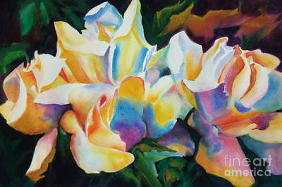 Rose Cluster Half Original by Kathy Braud