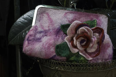 Mixed Media - Rose Clutch by Shelley Bain
