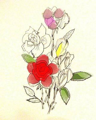 Rose Collections 2 Art Print by Howard Elliott
