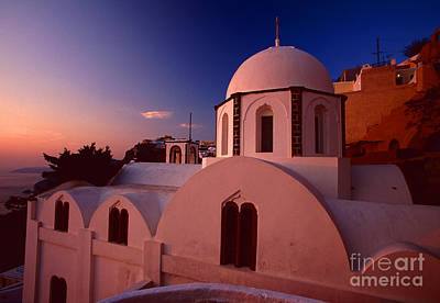 Rose Color Church Print by Aiolos Greek Collections