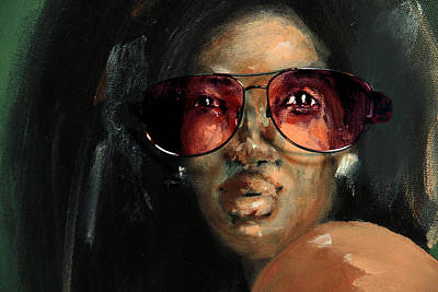 Rose Colored Glasses Art Print by Jim Vance